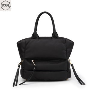 Image 2 - 2018 New Winter Space Bale Handbag Woman Casual Space Cotton Totes Bag Down Feather Padded Lady Shoulder Crossbody Bag