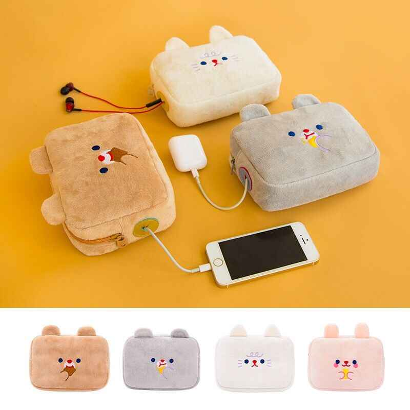 Bentoy Milkjoy Flannel Soft Coin purse Cute Women Handbag Phone Bag Digital Packet Function Large Storage Case Make up Holder