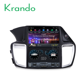 "Krando Android 9.0 12.1"" Tesla Vertical screen car radio player for Honda accord 9 2013-2017 gps navigation system"