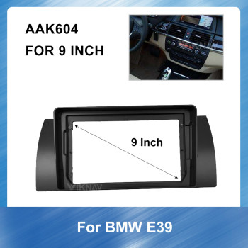 9 Inch 2DIN Car Auto Radio Multimedia fascia For BMW E39 Fascia Audio Fitting Adaptor Fascia car accessories image
