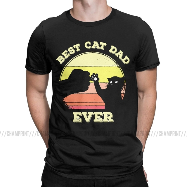 Sunset Shirt Vintage Best Cat Dad Ever Fist Bump Fit Father/'s Day Shirt Cat Lover Shirt Pet Lover Shirt Gift For Dads Love Cat Shirt