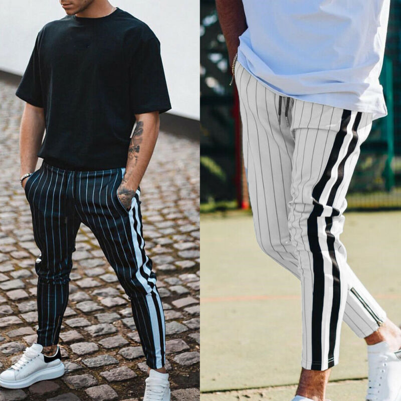 Mens Sport Gym Skinny Jogging Joggers Sweat Pants Trousers Slim Fit Tracksuit Plus Size 3XL