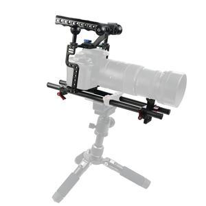 Image 2 - BGNing Aluminium SLR Kamera Käfig für GH4 /GH5 Unterstützung Objektiv Stand Bracket w/ 25cm 40cm Carbon fiber Rod Clamp Railblock Mount Kit