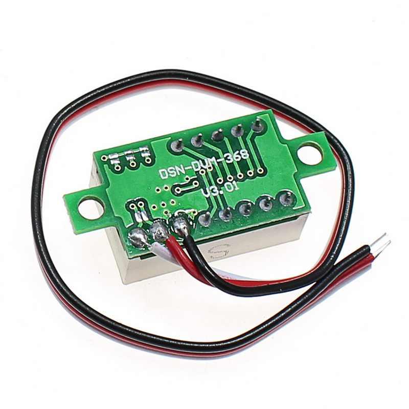 جديد ثلاثة أسلاك 0-100 فولت تيار مستمر الفولتميتر الرقمي المصغر ، الفولتميتر مع عكس حماية قطبية ، الجهد الرقمي المتعدد