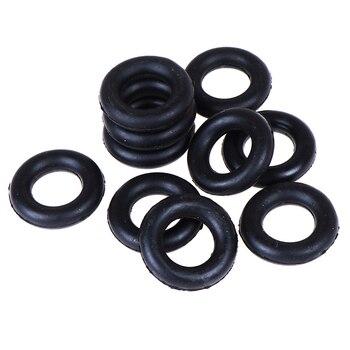 10 piezas bobinadora rueda de fricción para máquina de coser cantante accesorios de costura alrededor de la bobina anillo de goma O