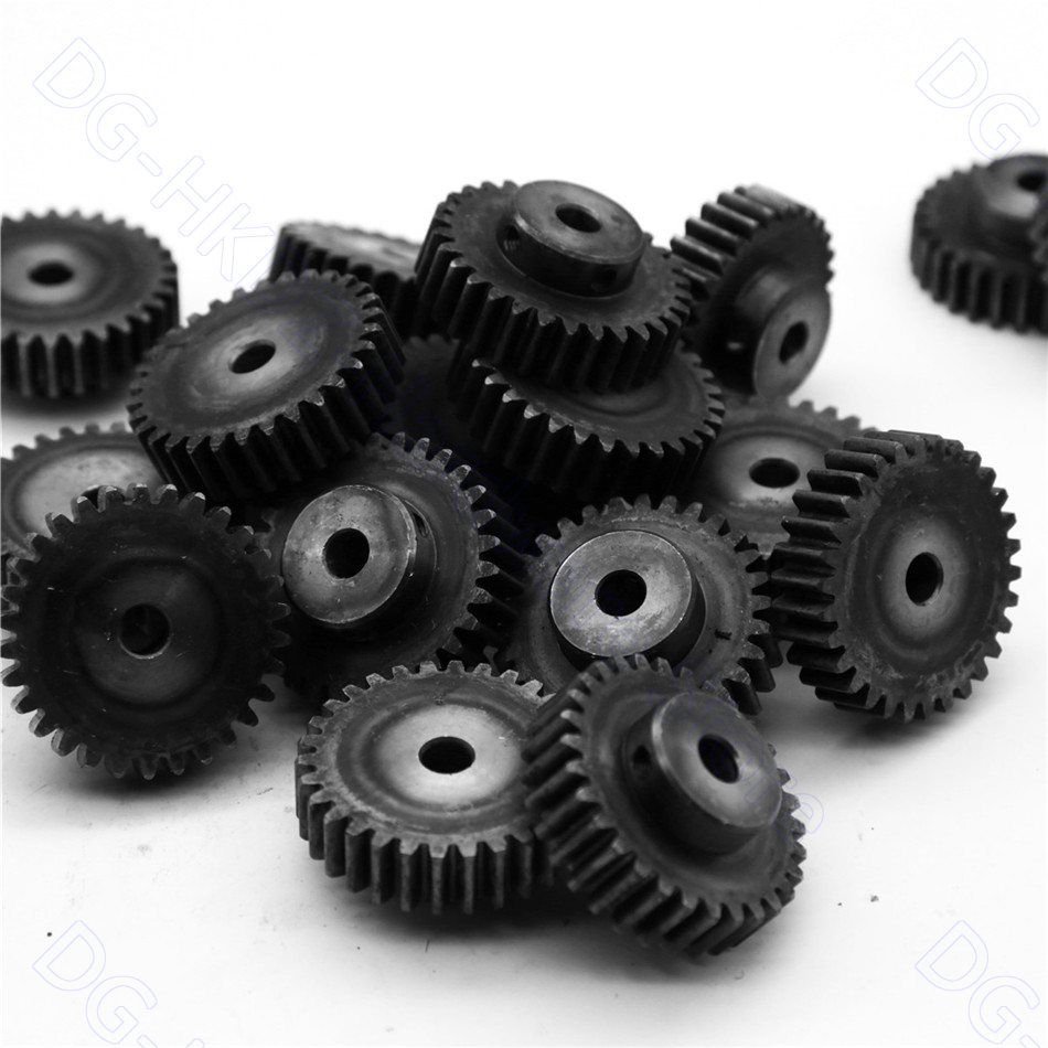 1.5M Spur Gear 12T-60T Metal Transmission Gear 45# Steel Pinion 1.5 Mod 12 15 20 25 30 35 40 50 60 Teeth Motor Parts Accessories
