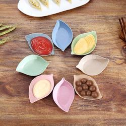Miska przyprawowa pszenica słoma małe talerze naczynie na przekąskę sos płyta uniwersalna zastawa stołowa do kuchni 4 kształt 4 kolory