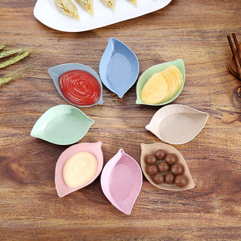 Dish-Bowl Plate Tableware-Supplies Wheat-Straw Snack Seasoning Kitchen Multipurpose 4-Shape title=