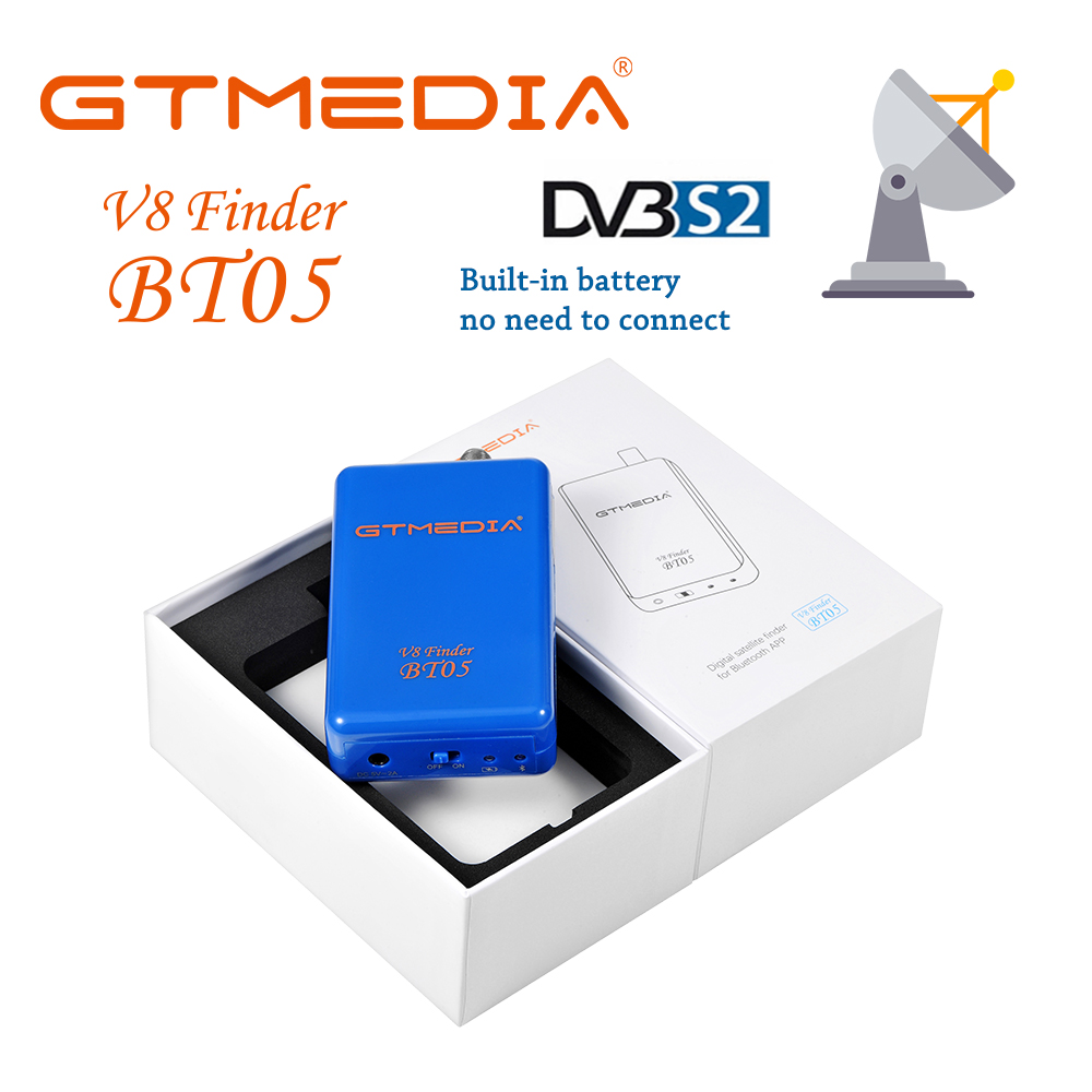 GTmedia V8 Finder BT05 Digital Satellite Finder With Android & IOS System App Freesat BT03 Upgrad HD1080P Add Battery Sat Finder