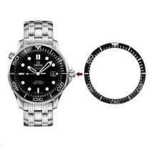 Ceramics bezel insert for OMG Omega Seamaster automatic man watch parts  watch bezel insert loop for OMG sea-master