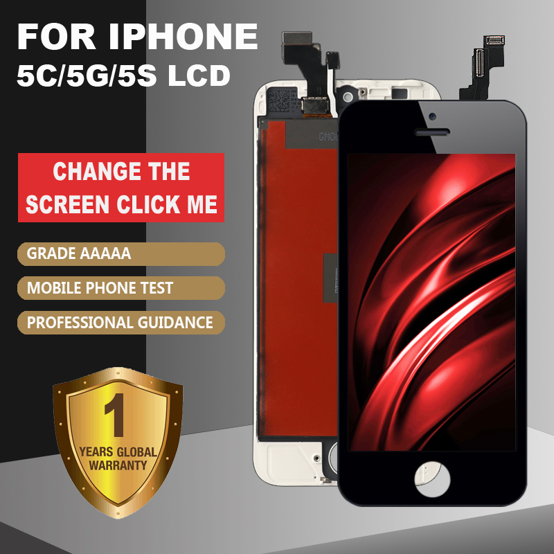 Grade AAAA+++ LCD Display For IPhone 5 5G 5S 5C SE  Touch Screen Digitizer Assembly. No Dead Pixel+ With Gifts