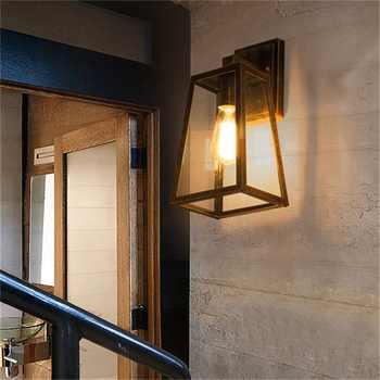 OUFULA Wall Sconce Outdoor Lighting Waterproof Patio Modern LED Wall Light Fixture For Porch Balcony Courtyard Villa Aisle