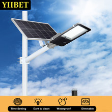YIIBET 10W-300W+Mounting Arm Solar Pool Lamps Country Road Street Dusk To Dawn Security LED Flood Lighting уличные фонари для да