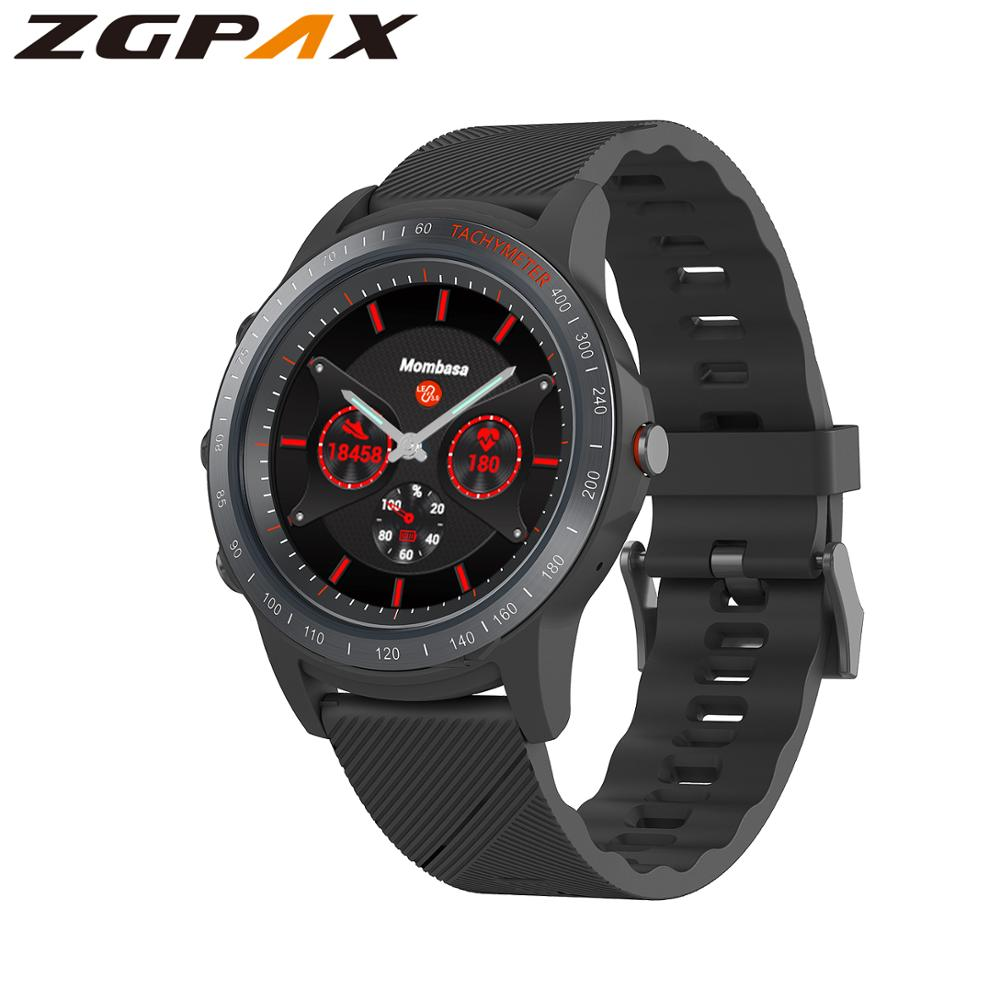 ZGPAX Top S22 smart watch real pointer watch standby 350 days support Bluetooth call perforated screen for huawei IOS phone|Smart Watches|   - AliExpress