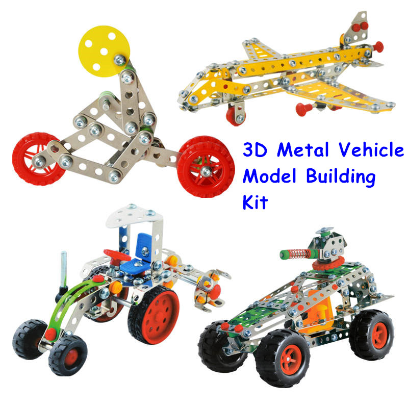 10 Types Magical Model Building Kit Construction Metal Assembly Set 3D Stainless Steel Block Toys For Boys Christmas Gift