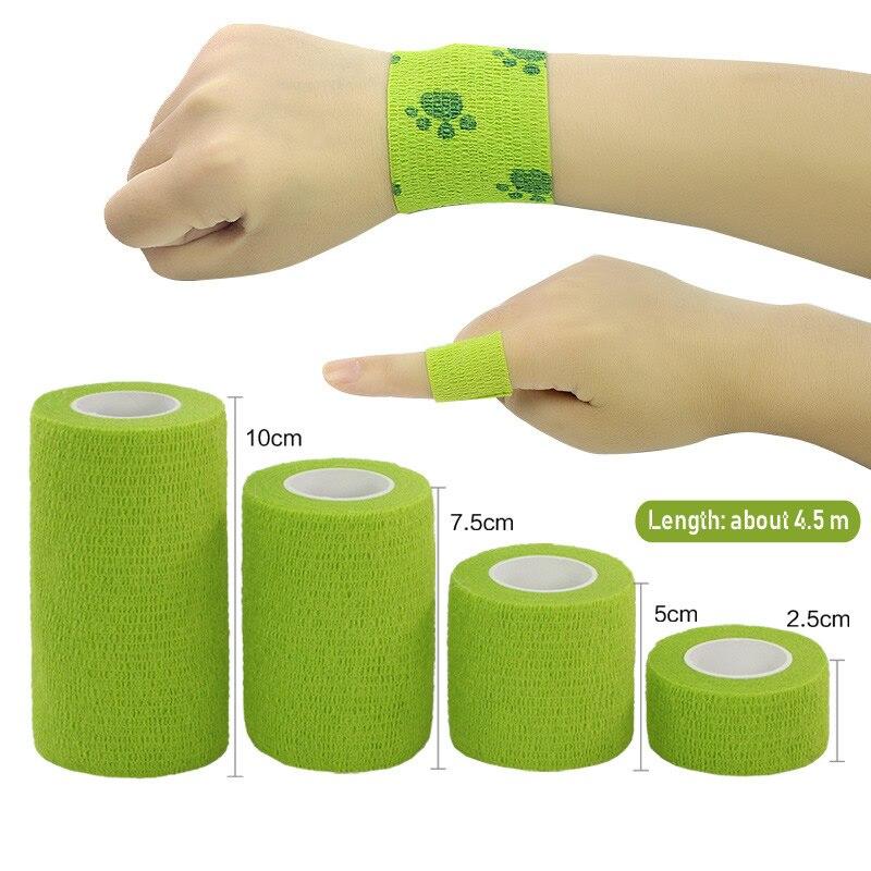 1Pcs À Prova D' Água Fita Muscular Terapia Médica Bandagem Adesiva Articulações Dos Dedos Envoltório Kit de Primeiros Socorros Para Animais de Estimação Bandagem Elástica 2.5 -15 centímetros