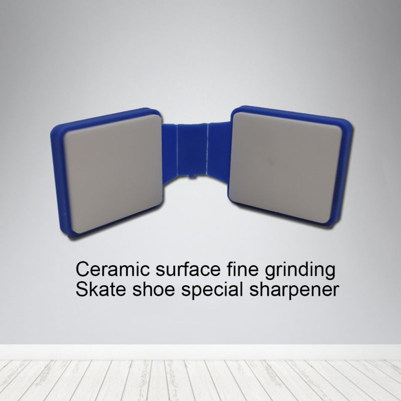 Ice Skate Blade Sharpener Double Sided Portable Diamond Ceramic Roller Shoes Blades Grinder For Speed Skating