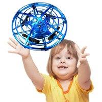 Мини-Дрон НЛО игрушки Инфракрасный контроль зондирования ручной летающий самолет Анти-столкновения ручной Квадрокоптер Индукционная Игру...