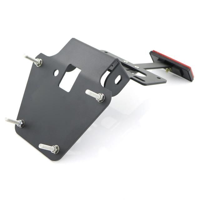 Para Honda Grom MSX125 2013 2014 2015 parte trasera de la motocicleta ordenada placa de matrícula Kit eliminador de aluminio negro