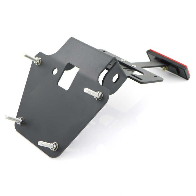 Para honda grom msx125 2013 2014 2015 cauda traseira da motocicleta tidy placa de licença fender eliminador kit alumínio preto