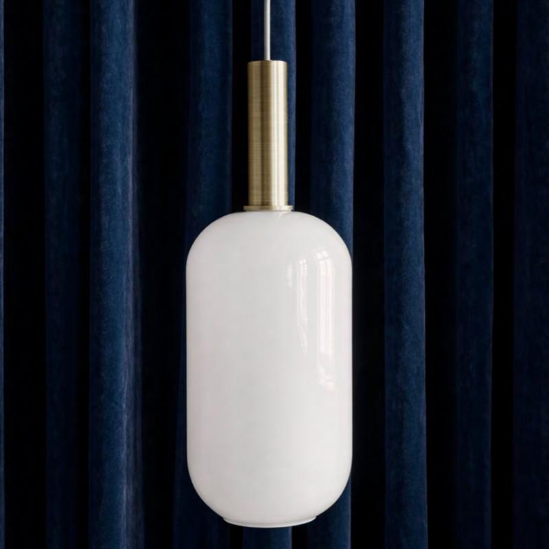 Işıklar ve Aydınlatma'ten Kolye ışıkları'de Modern kolye ışıkları siyah cam top şeklinde asma lamba uzun çizgi mutfak için asılı lamba oturma odası Nordic küre aydınlatma armatürleri title=