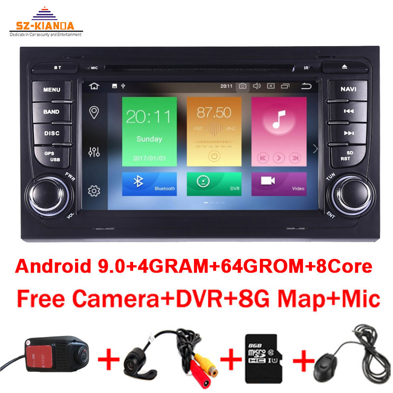 4GB RAM 64GB ROM 8Core Android 9.0 CAR GPS For <font><b>Audi</b></font> <font><b>A4</b></font> <font><b>B6</b></font> B7 S4 B7 <font><b>B6</b></font> RS4 B7 SEAT Exeo dvd player radio dvd Wifi Car <font><b>Multimedia</b></font> image