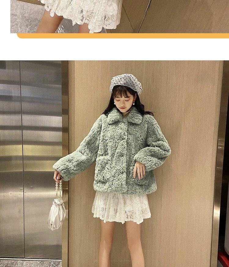 H4d129b775b644e9ba2ef4472fc4017b19 Plush jacket women winter short 2021 new Korean version of loose lamb wool faux fur leopard print fur coat women winter
