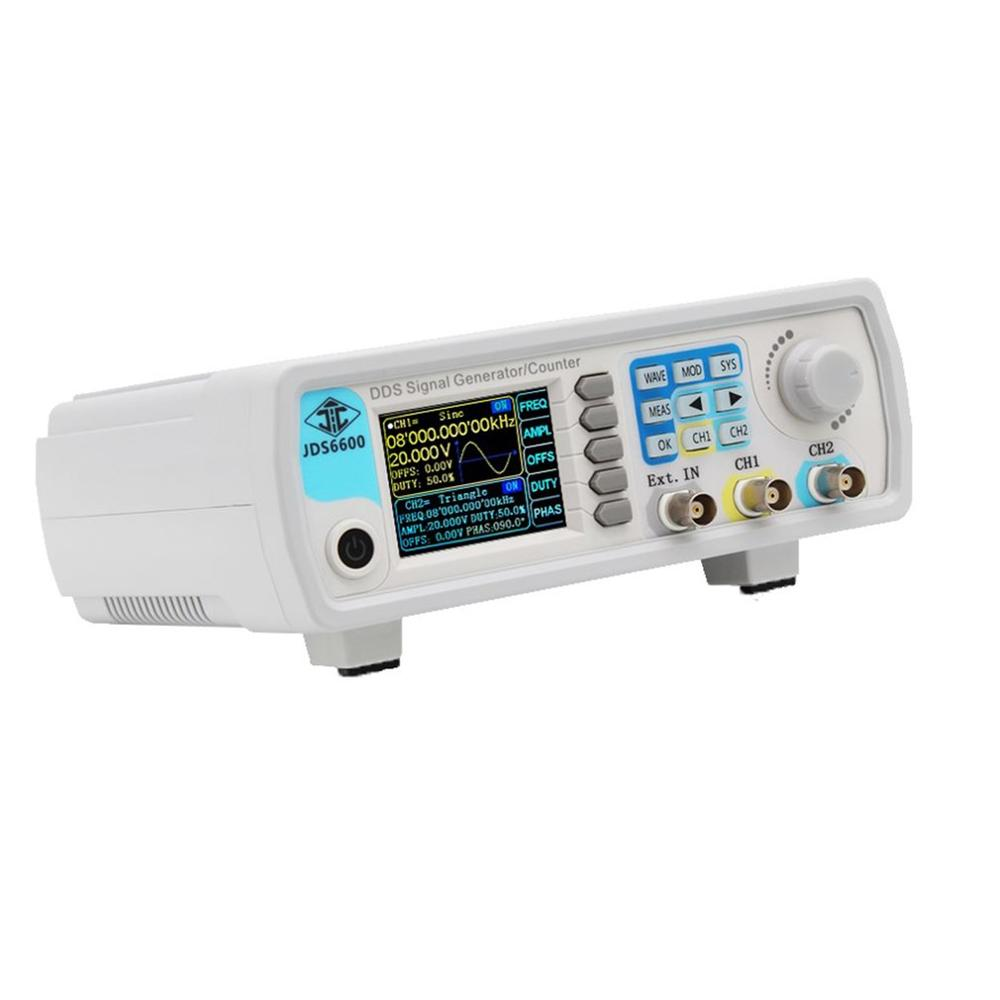 JDS6600 40MHz contrôle numérique DDS double canal arbitraire forme d'onde générateur de Signal fonctionnel fréquence mètre haute précision