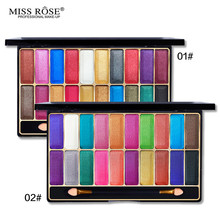 Miss Rose Brand 20 Color Shiny Eyeshadow Palette Make Up Shimmer Colorful Makeup Wet Eye Shadow Glitter Cosmetic