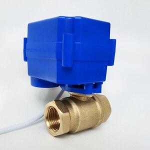 """Image 4 - Vanne moteur électrique en laiton 1/2 """""""