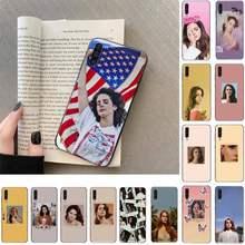 FHNBLJ-funda de teléfono para Samsung Galaxy, modelo Sexy de cantante, Lana Del Rey, a50, A30S, A50S, a71, 70, a10, funda para samsung a51