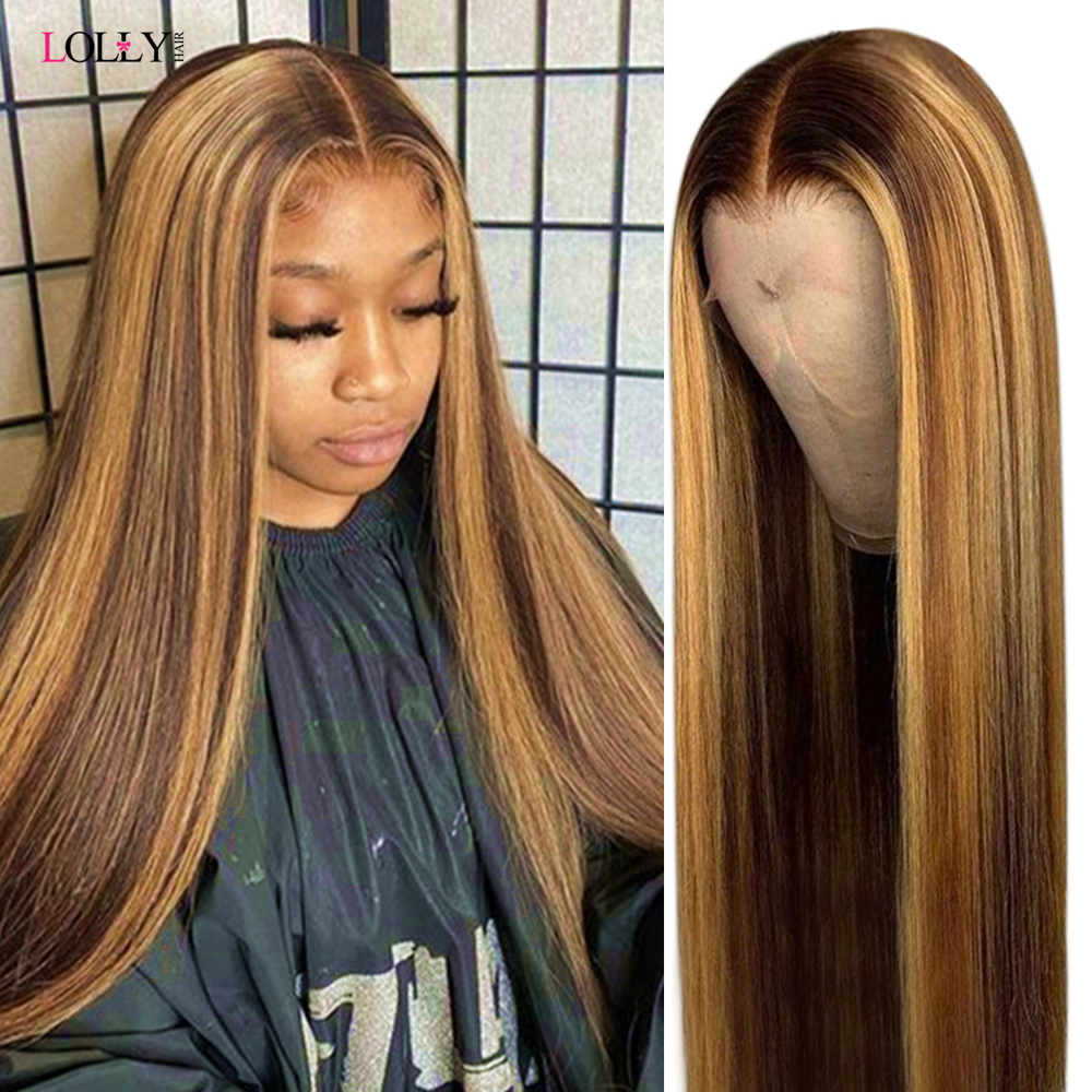Highlight Wig Brown Colored Human Hair Wigs 13x6x1 Ombre Straight Transparent Lace Front Wig Highlight Lace Front Human Hair Wig Best Offer 48a05 Kungsbackalas