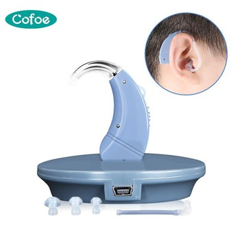 Cofoe USB Charge Hearing Aids Sound Amplifier Ear Care Tools Adjustable Mini Hearing Aid for The Elderly/Hearing Loss Patient