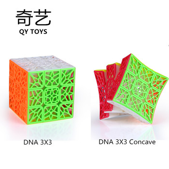 Stickerless  QiYi DNA Plane Concave 3X3  Magic Speed Cube Professional Puzzle 3x3 Cube Toys for children тенты зонты decathlon 8295843 3x3 quechua