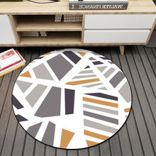 Nordic Style Round Carpet Irregular Pattern Sofa Side Living Room Decoration Non-slip Hanging Chair Simple Modern Rugs(China)