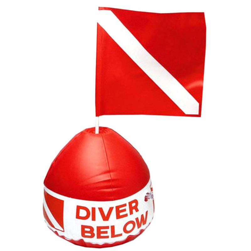 TOP! Diving Diver Inflatable Signal Floater Float Dive Flag Outdoor Tools     - title=