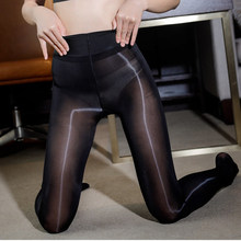 High Waist Oil Shiny Tights for Sexy Women Girl Lingerie Hot Ultrathin Glossy Clothing Pantyhose 2021 Nylon Bling Stockings