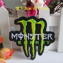 20pcs/lot Embroidery Patches Letters Clothing Decoration Accessories Monster Diy Iron Heat Transfer Applique Motorcycle  Decals