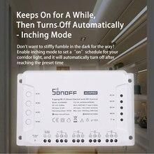 SONOFF 4CH Pro R3 433Mhz RF telecomando senza fili banda a 4 vie canale Wifi relè Inching interblocco Smart Switch domotica
