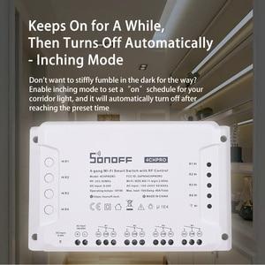 Image 1 - SONOFF 4CH Pro R3 433Mhz RF telecomando senza fili banda a 4 vie canale Wifi relè Inching interblocco Smart Switch domotica