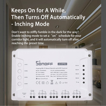Sonoff 4CHプロR3 433 433mhzのrfワイヤレスリモコン4ウェイチャンネルgang wifiリレーインチングインターロックスマートスイッチホームオートメーション