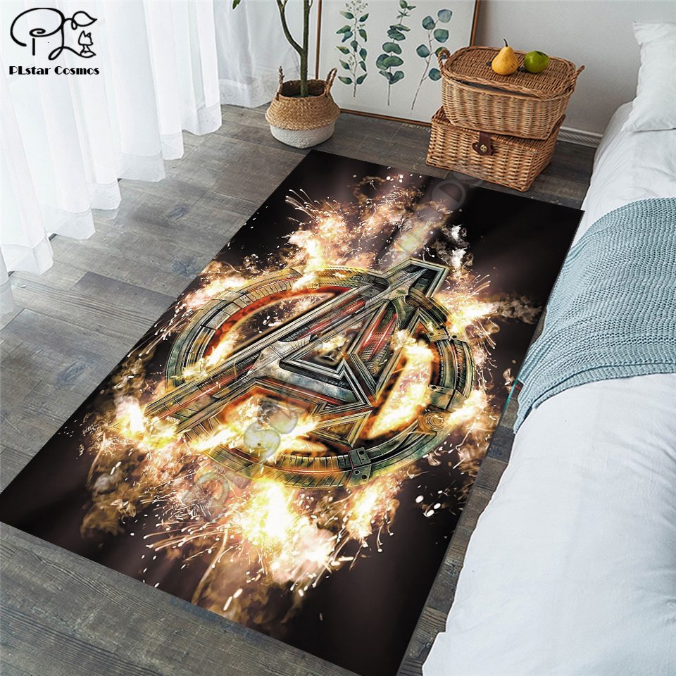 New Superman/Batman/US Captain/The Avenger Carpets Soft Flannel 3D Printed Rugs Mat Rugs Anti-slip Large Rug Carpet-4