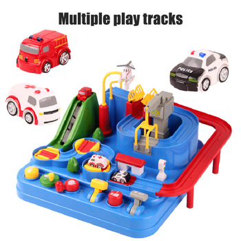 Car Adventure Game Manipulative Rescues Squad Adventure Rail Car Model Racing Educational Toys 2019 New Design Kids Xmas Gift