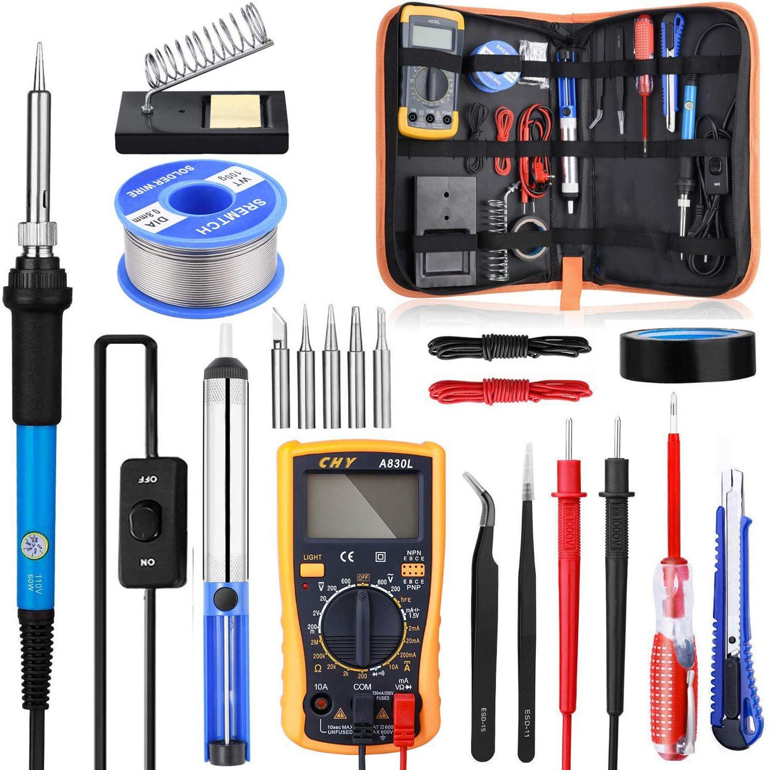 Soldering Iron Kit with ON/OFF Switch, Rarlight 60W 110V Adjustable Temperature Welding Tool Soldering IronElectric Soldering Irons   - AliExpress
