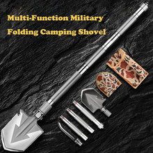 Max Length 92cm Shovel High-carbon Steel Shovel Outdoor Tactical Multifunctional Shovel Folding Camping Equipment Survival Tool цена 2017