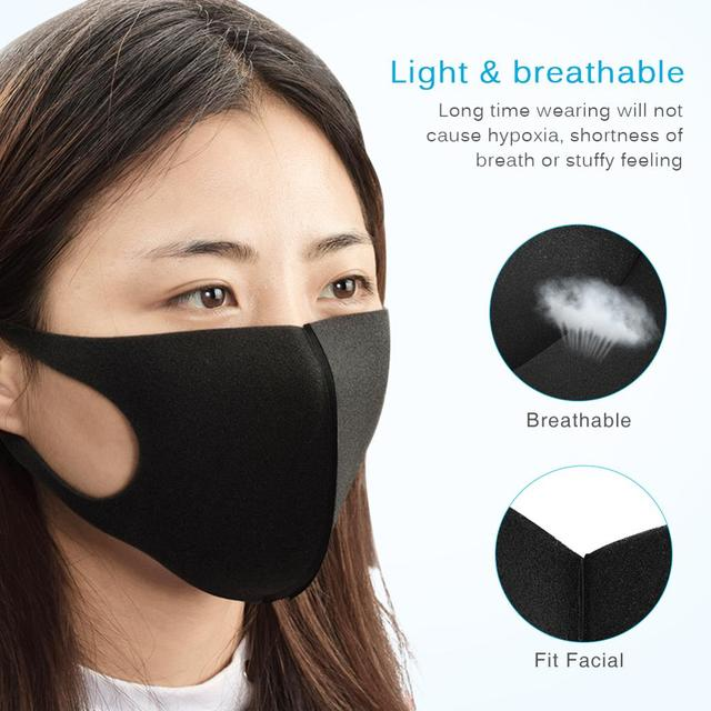 5-100PCS Anti Haze Flu Dust Mask Breathable Unisex Face Mask Reusable Anti Pollution Bacteria Face Shield Wind Proof Mouth Mask