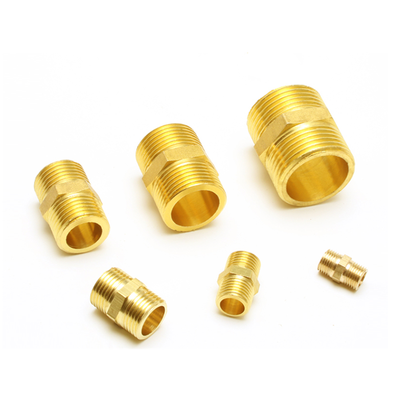 Double outer filament Brass Pipe Hex Nipple Fitting <font><b>Quick</b></font> Adapter 1/8