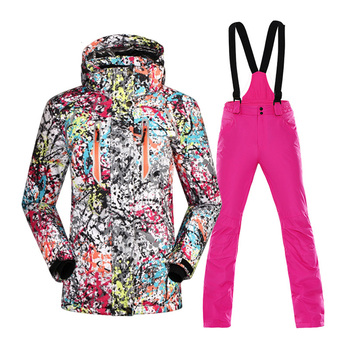 Women Thicken Ski Suit Windproof Waterproof Jacket +Snow Pants  Winter Thermal Skiing And Snowboard Snow Costumes Coat Sets trvlwego outdoor ski suit men s windproof waterproof thermal snowboard snow skiing jacket and pants sets winter sports clothes
