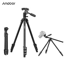 Andoer Video Tripod Horizontal Mount Heavy Duty Camera with 3-Way Pan & Tilt Head for DSLR Cameras Camcorders Mini Projector