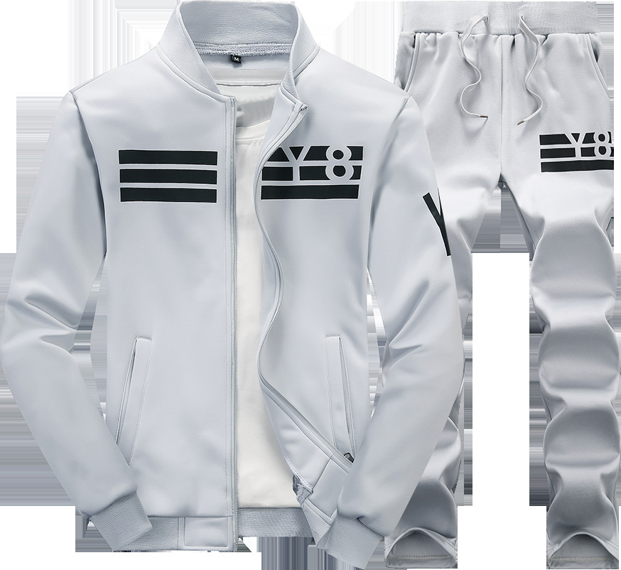 Men Track Suit Sport Style Character Ptinting Striped Tops Mens Hip Hop 1 SET Packing Jogger Suits Jacket And Pants